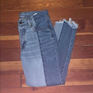 BARELY WORN TWO TONED JEANS